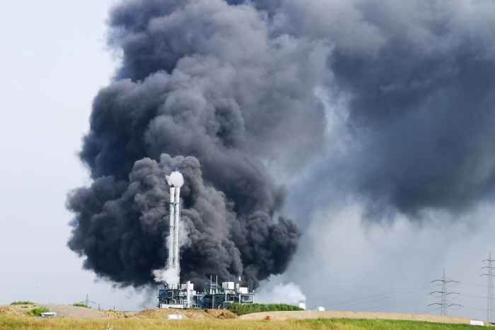 Explosion auf dem Gelände von Currenta in Leverkusen.