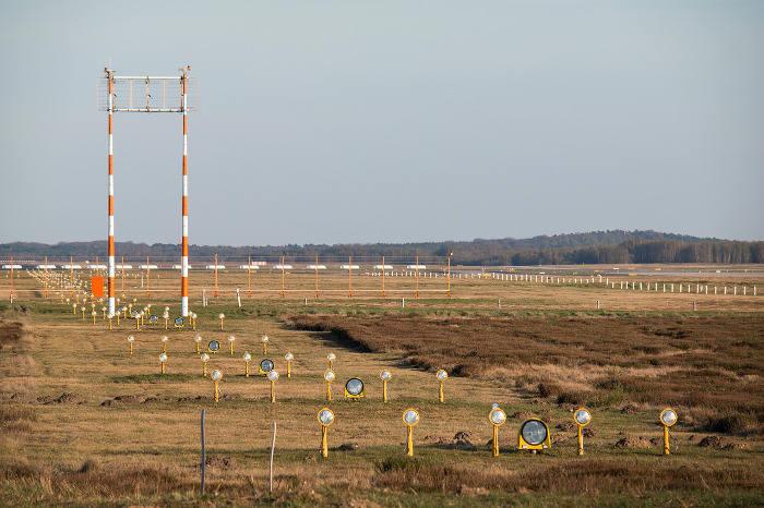 Fläche des Flughafens Köln/Bonn in der Wahner Heide.