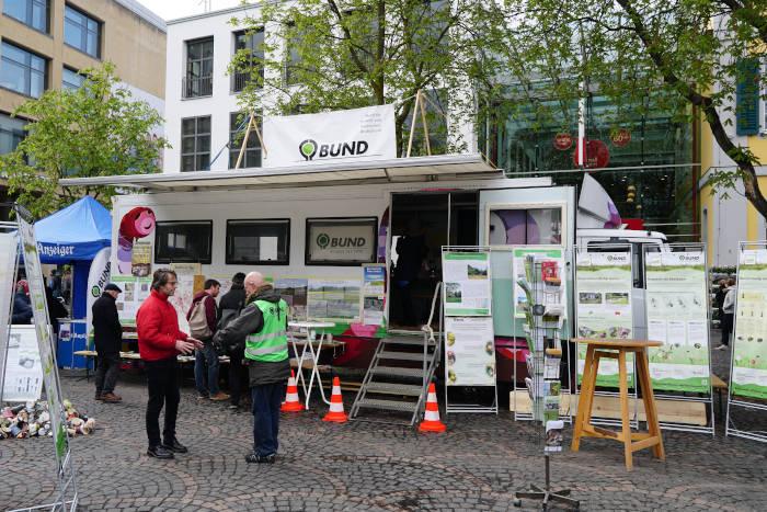Der Bufo Bus des BUND Rhein Sieg beim Frühlingsfest in Bonn.